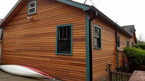 Up Close after Cedar siding and painting